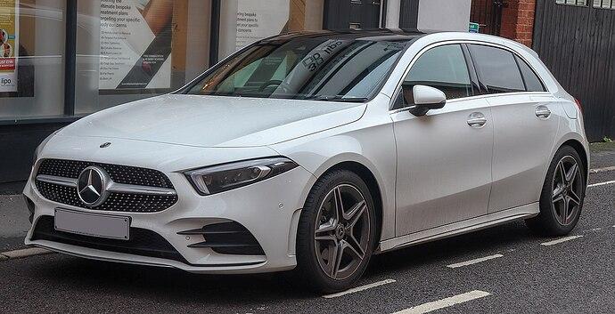 1200px-2018_Mercedes-Benz_A200_AMG_Line_Premium_1.3_Front